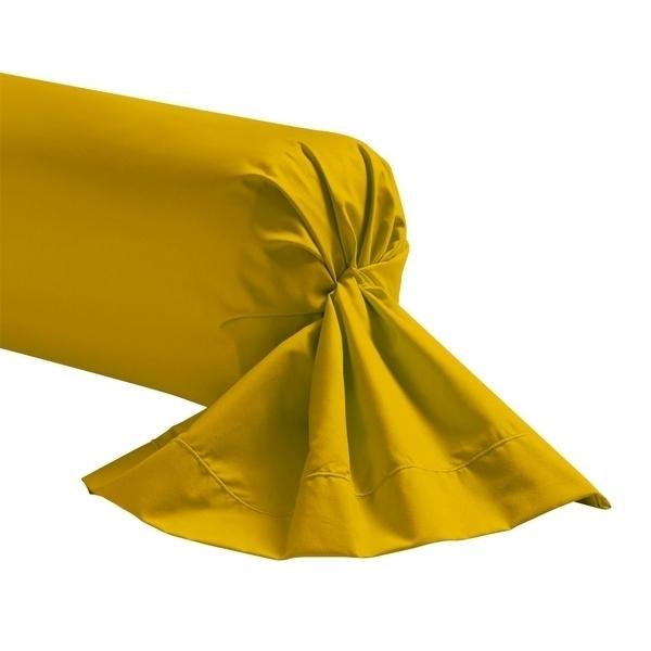 Zôdio - Taie de traversin jaune curry 44x185cm