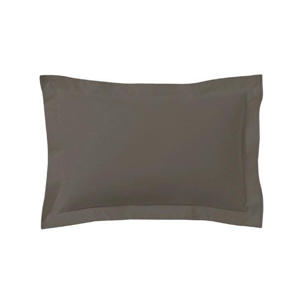 Zôdio - Taie d'oreiller rectangle noir caviar 50x70cm