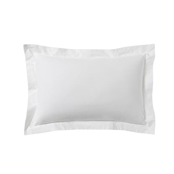 Zôdio - Taie d'oreiller rectangle en coton blanc 50x70cm