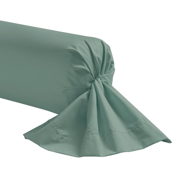 Zôdio - Taie de traversin gris fumée 44x185cm