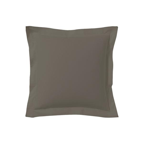 Zôdio - Taie d'oreiller carrée noir caviar 65x65cm