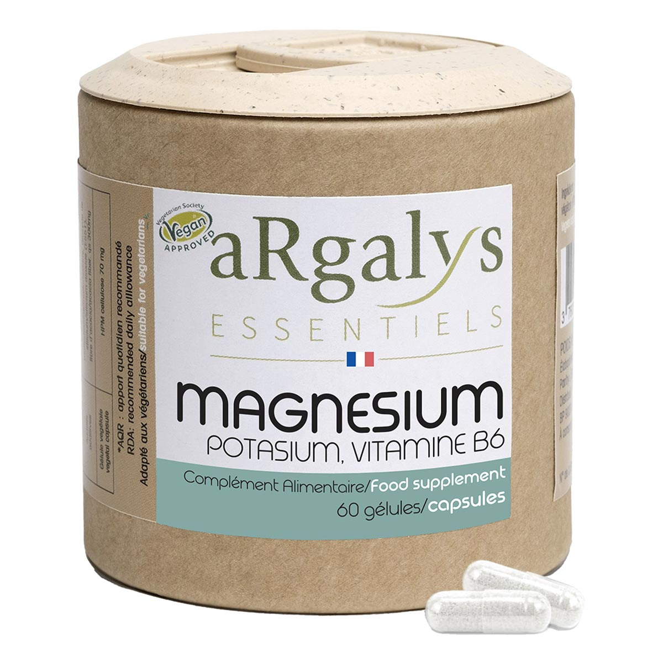 Argalys Essentiels - Magnésium + Potassium + Vitamine B6 60 gélules
