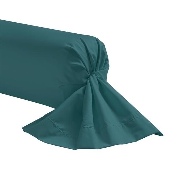 Zôdio - Taie de traversin bleu peacock 44x185cm