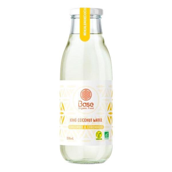 Base Organic Food - Eau de coco royale gingembre et citronnelle 35cl