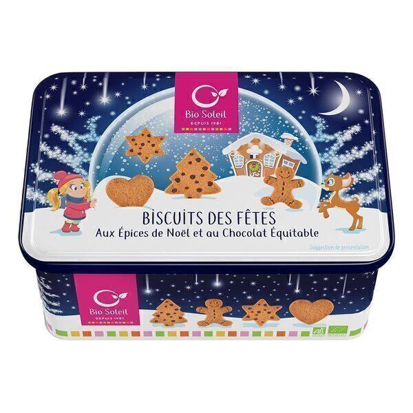 Bio Soleil - Biscuits de Noël et boîte décorée 250g