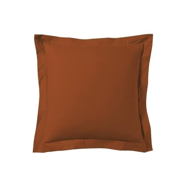 Zôdio - Taie d'oreiller carrée rouge terracotta 65x65cm