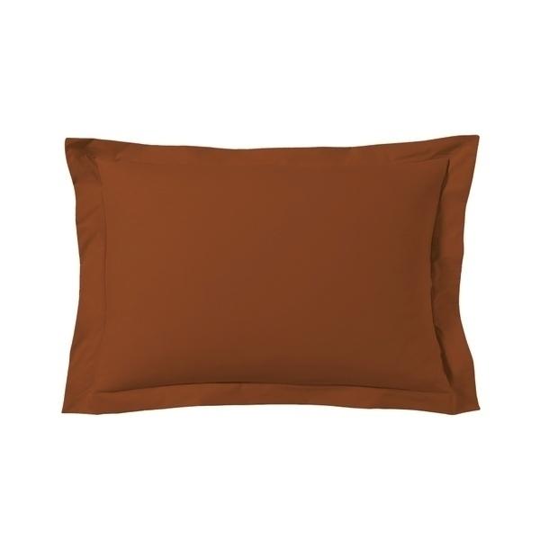 Zôdio - Taie d'oreiller rectangle rouge terracotta 50x70cm