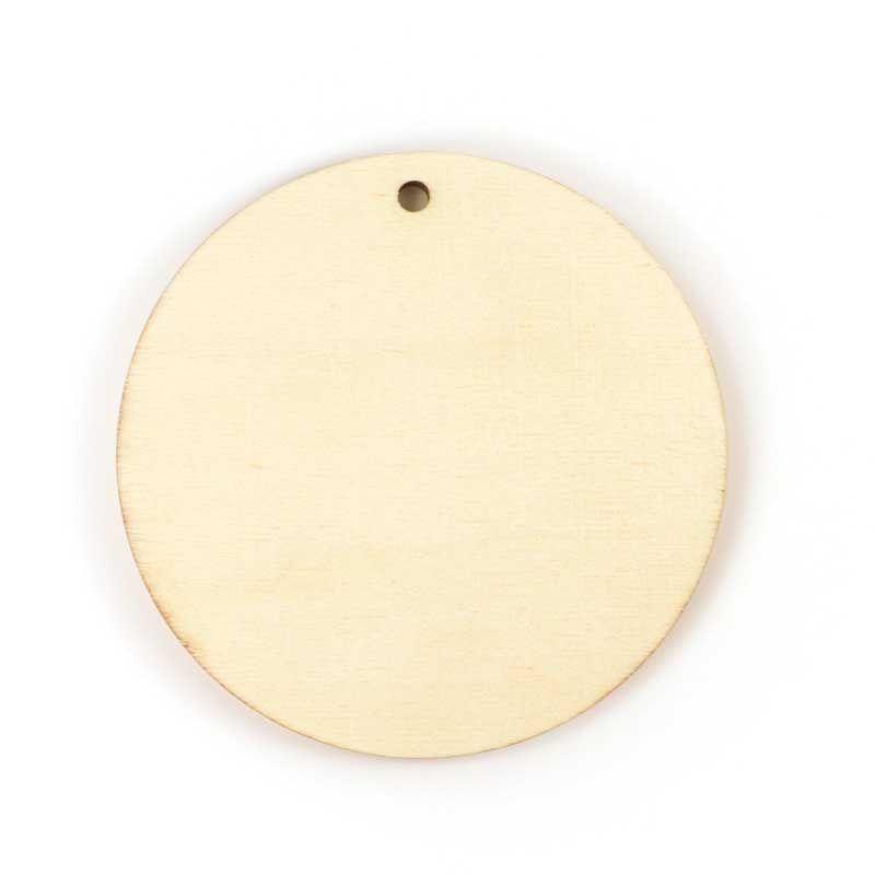 Graine Créative - Cercle en bois à décorer 12 x 12 cm