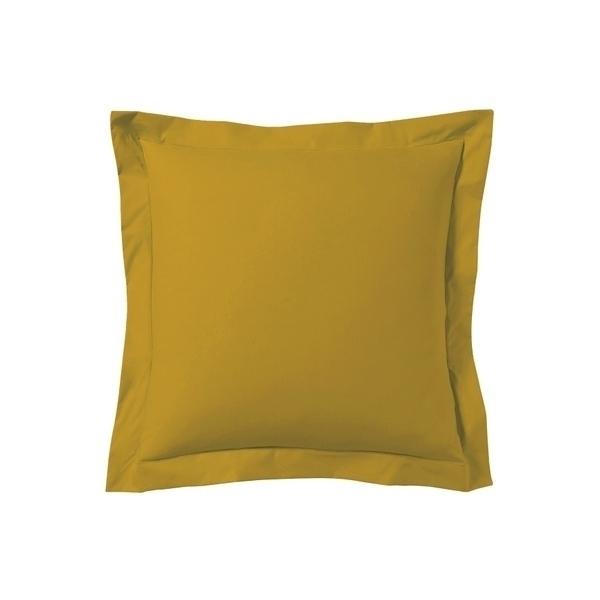 Zôdio - Taie d'oreiller carrée jaune curry 65x65cm