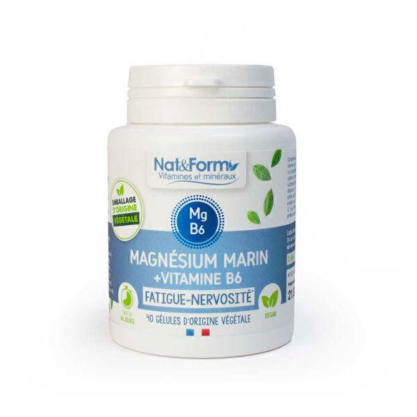 Nat & Form - Magnésium marin + vitamine B6 40 gélules