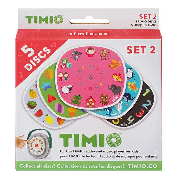 Timio - Pack de 5 disques Set 2 Animaux marins - Dès 2 ans