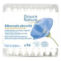 Douce Nature - Cotons tige Bâtonnets sécurité bébé x 60