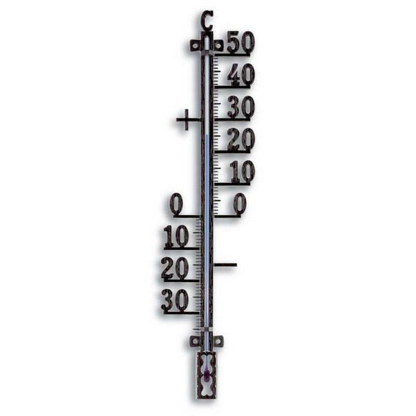 Grand thermom tre m tal noir jardin tfa acheter sur for Thermometre exterieur geant