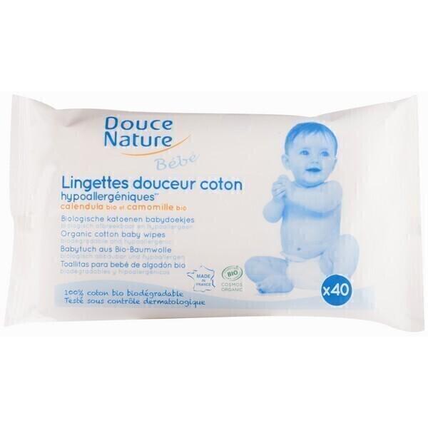 Douce Nature - Lingettes Bébé Biodégradables x40