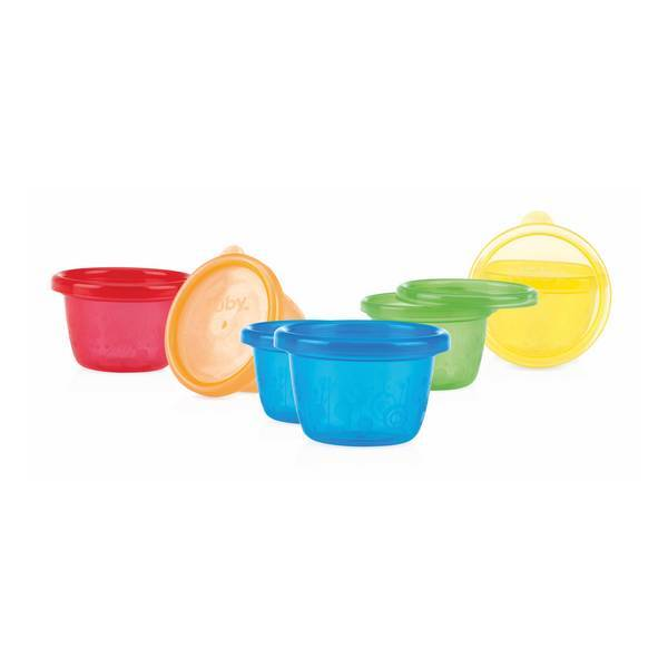 Nuby - 6 Snack Cups mit Deckel