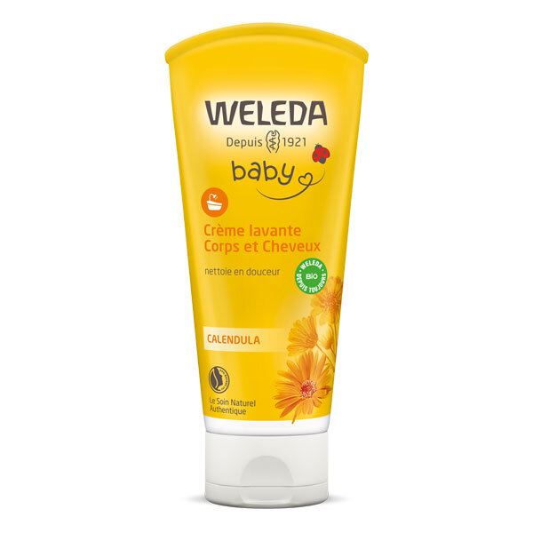 Weleda - Creme lavante corps et cheveux bebe 200ml