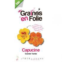 Graines en Folie - Organic Nasturtium Flower Seeds