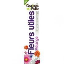 Graines en Folie - Ruban mélange fleurs utiles présemé