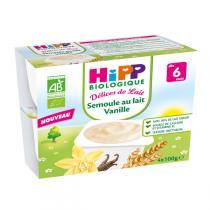 HiPP - Semoule au Lait Vanille dès 6 mois - 4 x 100g