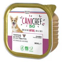 Canichef - Terrine sans céréales chien bœuf et légumes 300g