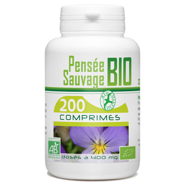 Bio Atlantic - Pensée sauvage Bio - 400 mg - 200 comprimés