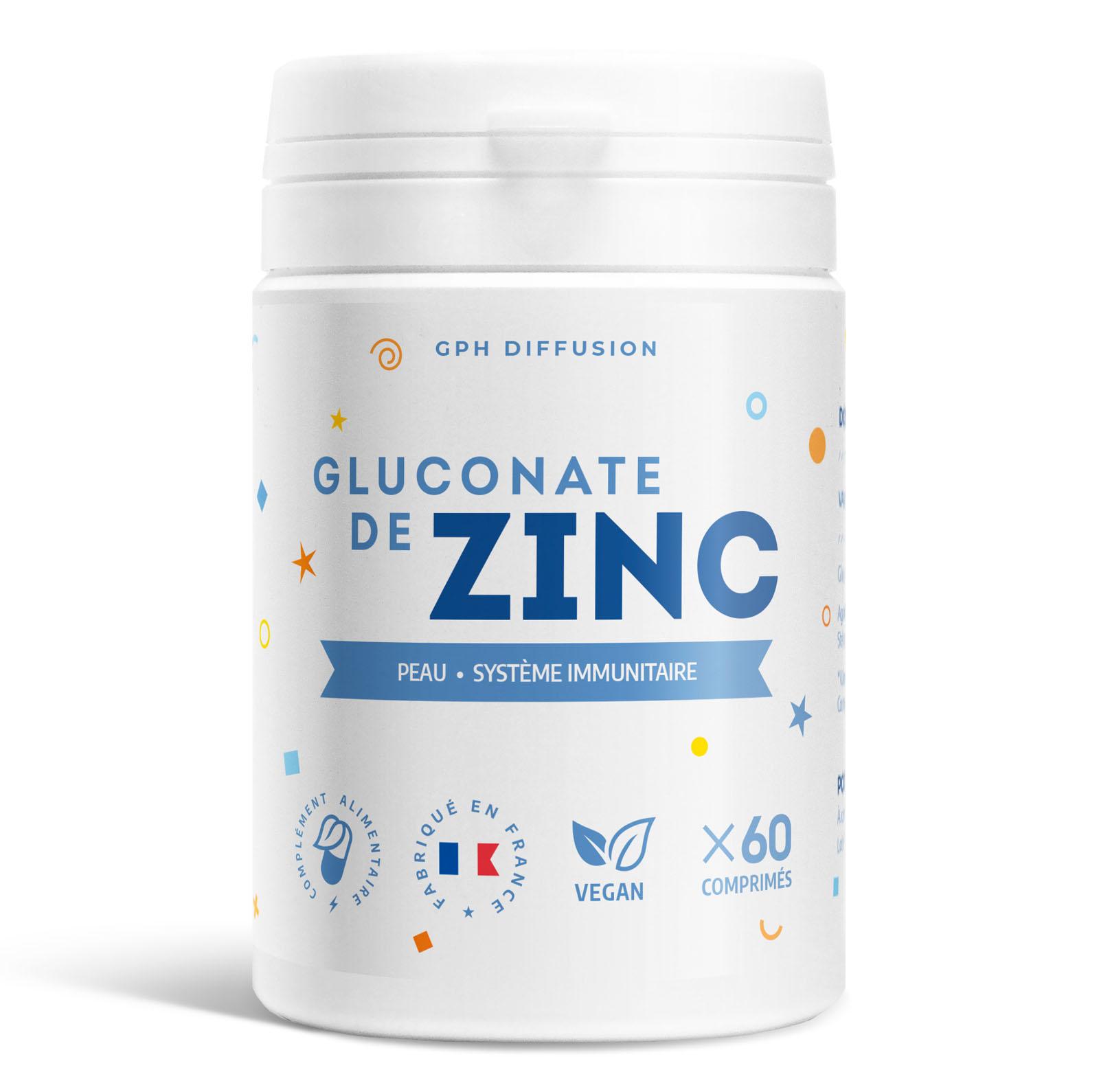 Gph diffusion - Gluconate de zinc - 15 mg - 60 comprimés