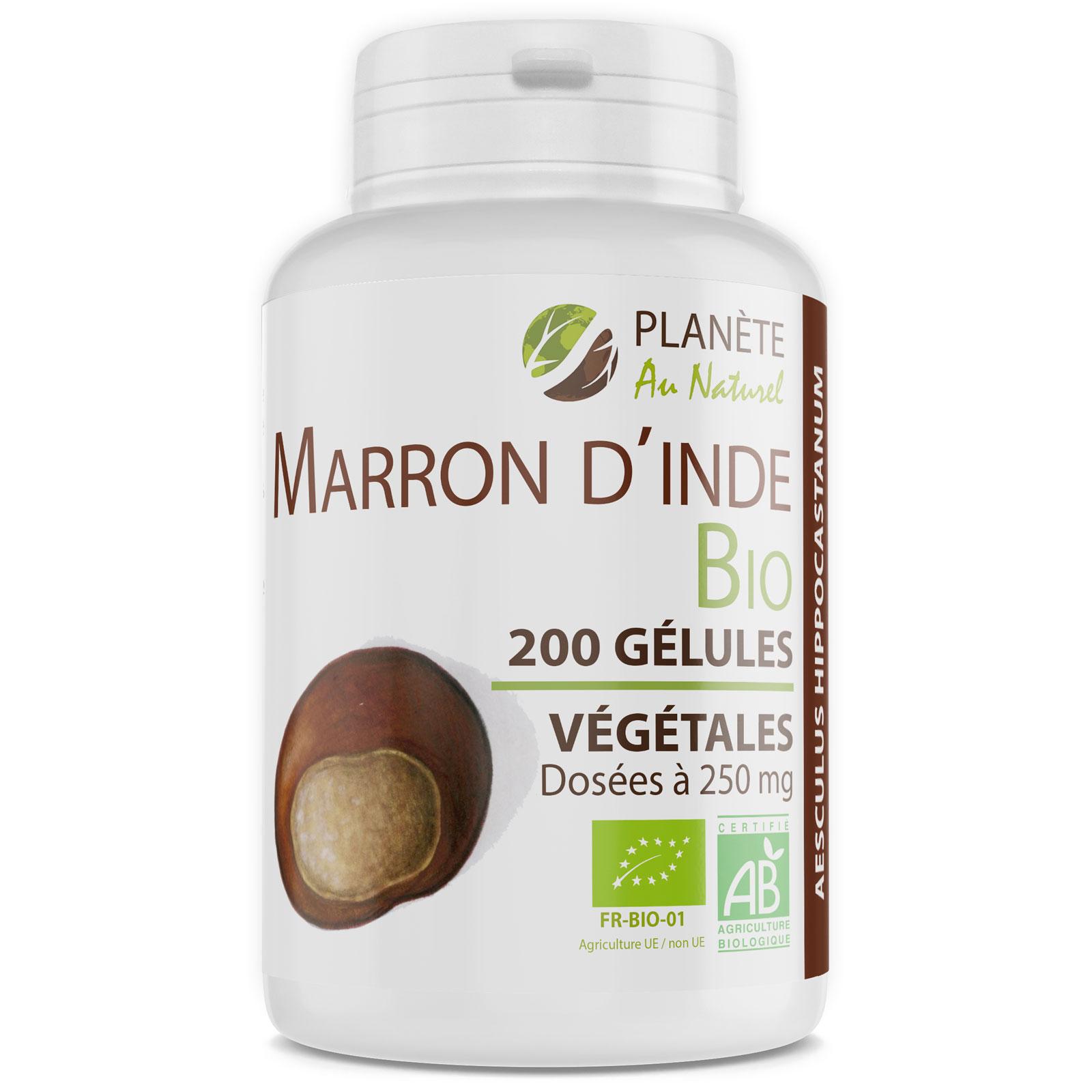 Planète au Naturel - Marron d'Inde Bio - 250 mg - 200 gélules végétales