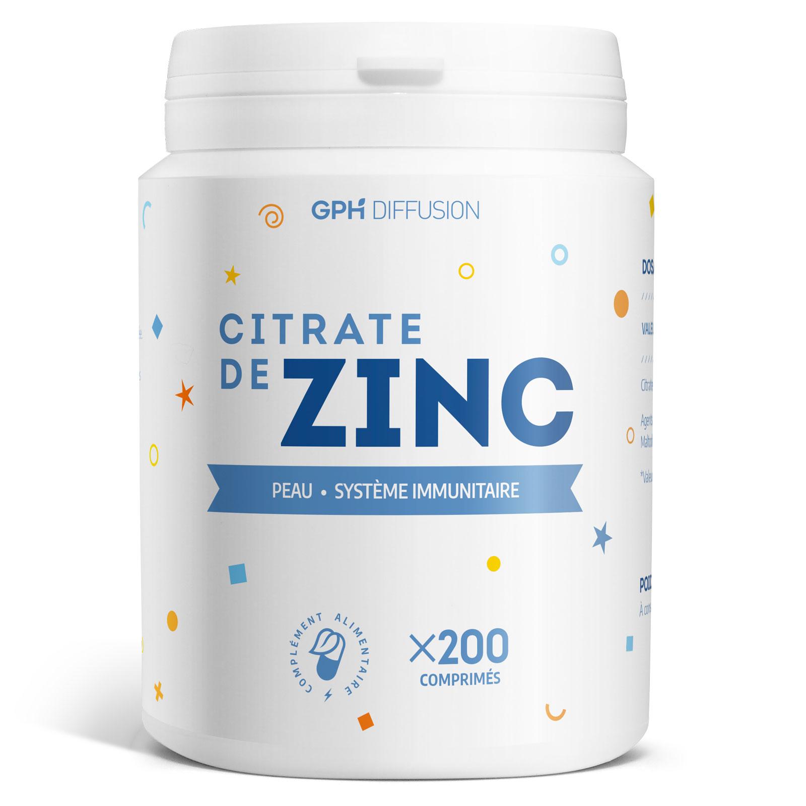 Gph diffusion - Citrate de Zinc - 15 mg - 200 comprimés