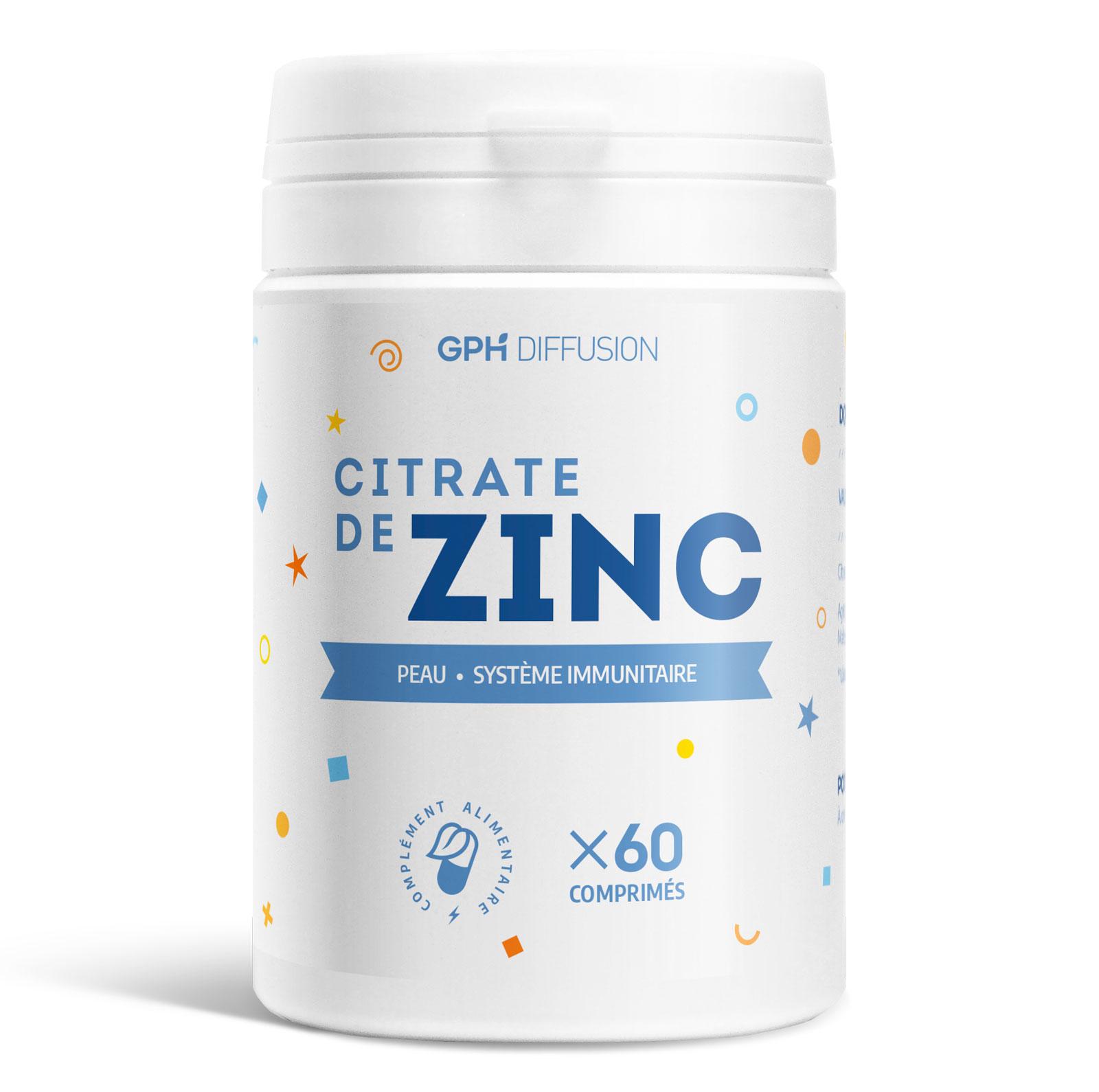 Gph diffusion - Citrate de Zinc - 15 mg - 60 comprimés