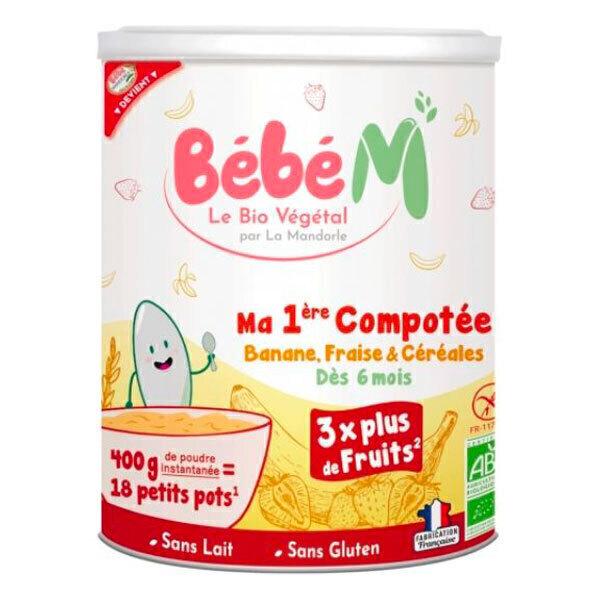 Bébé M - Compote instantanée banane fraise céréales 400g - Dès 6 mois