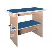 Cartonstyl - Kipfit Bureau debout bleu canard