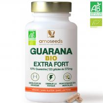 amoseeds - Guarana Natif Bio   10% Guaranine   120 gélules de 375mg