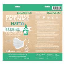 Nateo - Masques adultes biodégradables et compostables x10