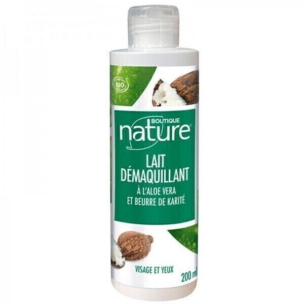Boutique Nature - Lait démaquillant aloe vera beurre de karité