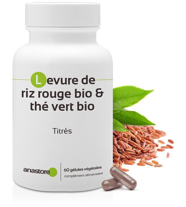 Anastore - Équilibre Cholestérol * 60 gélules * Levure de riz, Thé vert