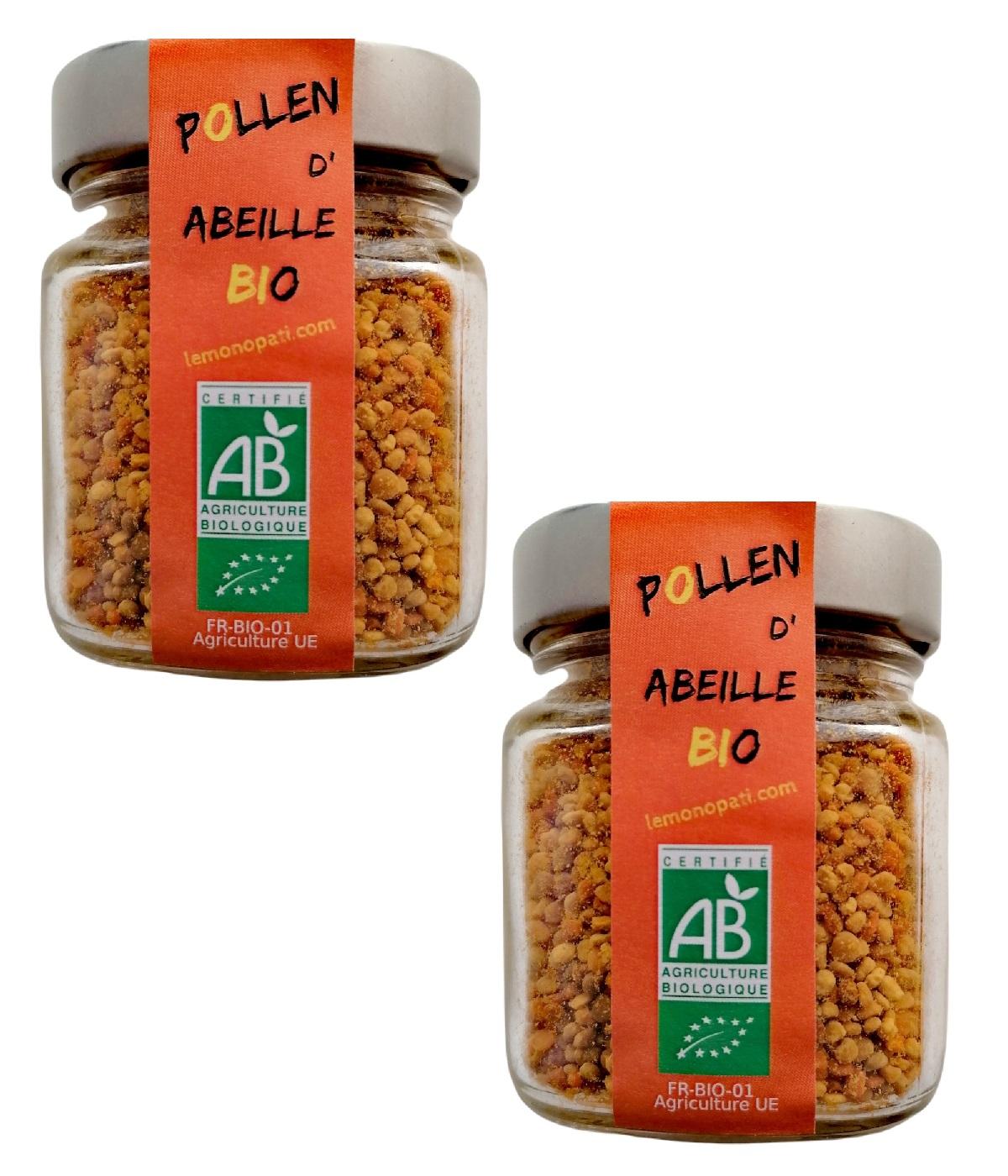 LE MONOPATI - 2 Pièces Pollen d'Abeille Bio 125g/pièce