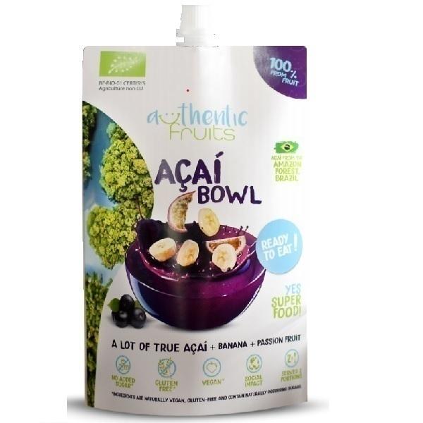Authentic Fruit - Açaï bowl 250g  vegan sans gluten Authentic Fruits BIO