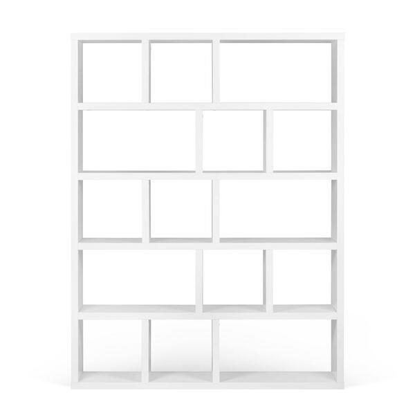 Temahome - Bibliothèque BERLIN 5 levels 150 - Blanc laqué