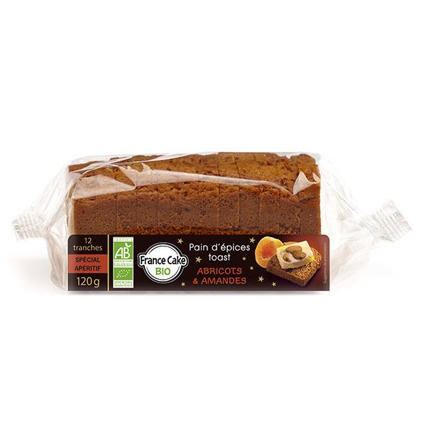 France Cake Bio - Pain d'épices toast à l'abricot et amandes 120g