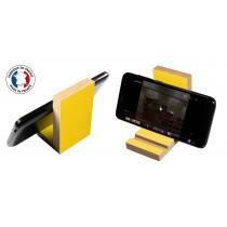Cartonstyl - La cale - support en bois pour téléphone portable - bleu canard