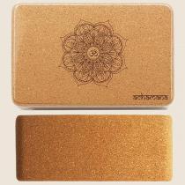 Achamana - Bloc de yoga liège mandala - Ep 9,5 cm