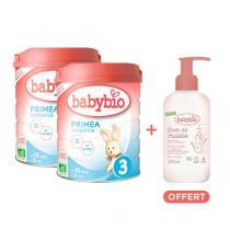 Babybio - Lot 2 Primea 3 croissance 10 mois 800g + 1 gel offert