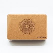 Achamana - Bloc de yoga liège mandala - Ep 7,5 cm