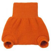 DISANA - Culotte de protection orange en laine Mérinos 3-6 mois