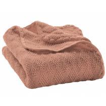DISANA - Couverture en laine Mérinos - Rose