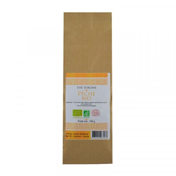 Jolivia - Thé Vert Pêche Bio - 100 g