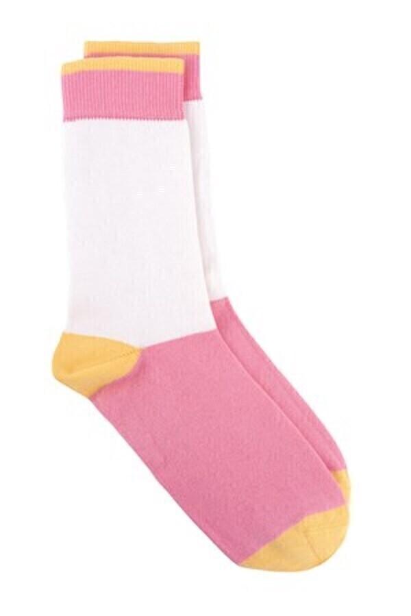 People Tree - Chaussettes coton bio - Colour block Pink P39-42