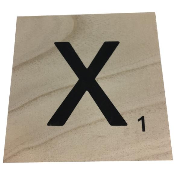 Zôdio - Lettre X scrabble en bois 10x10x0,6cm