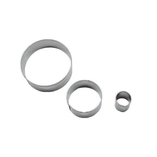 Zôdio - 3 découpoirs ronds inox