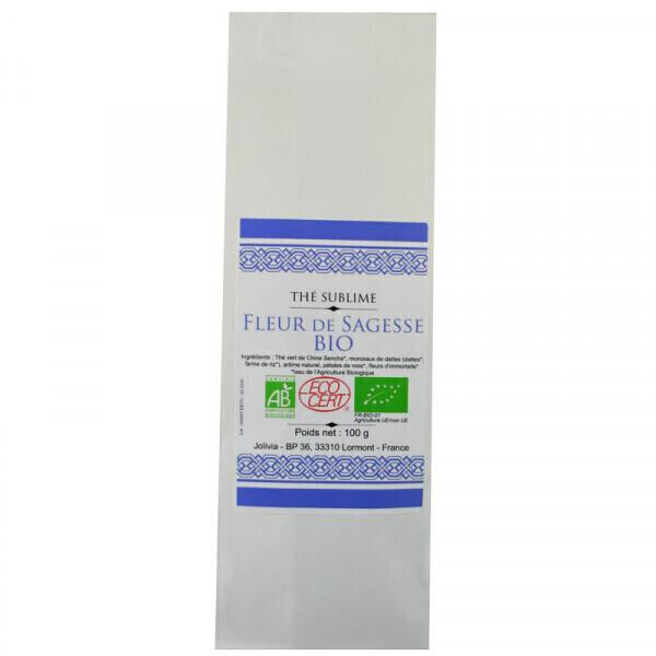 Jolivia - Thé Vert Fleur de Sagesse Bio - 100 g